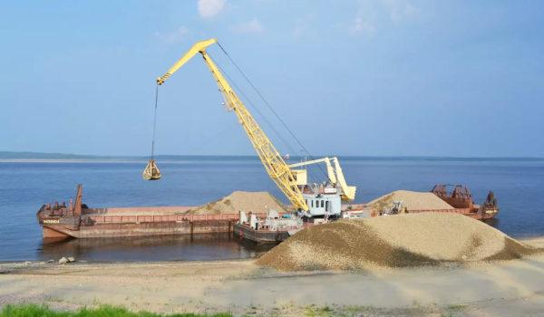 Добыча морского песка