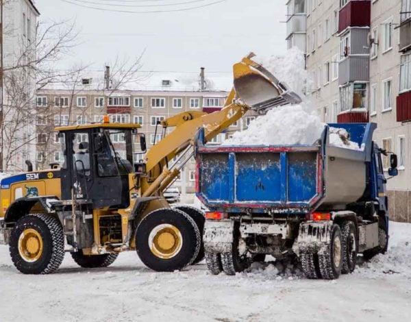 Вывоз снега 4